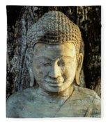 Royal Palace Buddha 02  Fleece Blanket