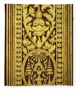 Royal Palace Gilded Door 01 Fleece Blanket