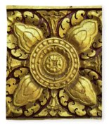 Royal Palace Gilded Door 04 Fleece Blanket