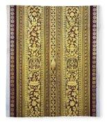 Royal Palace Gilded Doors Fleece Blanket