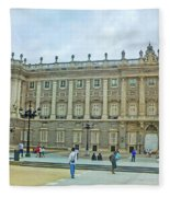 Royal Palace In Madrid In A Beautiful Summer Day, Spain Fleece Blanket
