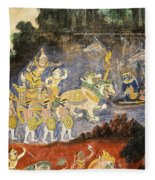 Royal Palace Ramayana 08 Fleece Blanket