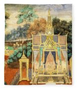 Royal Palace Ramayana 13 Fleece Blanket