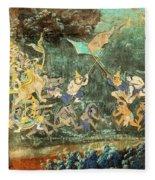Royal Palace Ramayana 14 Fleece Blanket