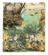 Royal Palace Ramayana 15 Fleece Blanket