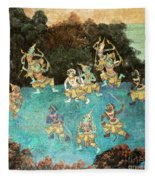 Royal Palace Ramayana 16 Fleece Blanket