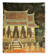 Royal Palace Ramayana 18 Fleece Blanket