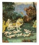 Royal Palace Ramayana 19 Fleece Blanket
