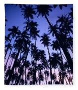 Royal Palm Grove Fleece Blanket
