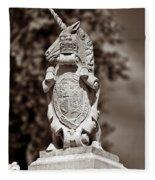 Royal Unicorn - Sepia Fleece Blanket