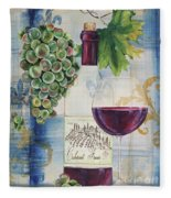 Royal Wine-a Fleece Blanket