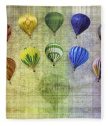 Roygbiv Balloons Fleece Blanket