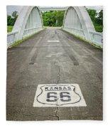Rt. 66 Rainbow Bridge Fleece Blanket