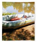 Rubber Boat 1 Fleece Blanket