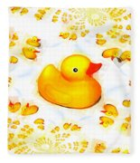 Rubber Ducks Fleece Blanket