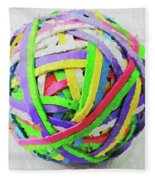 Rubberband Ball I Fleece Blanket