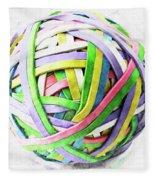 Rubberband Ball II Fleece Blanket