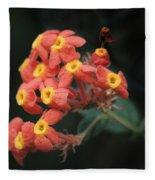 Rubiaceae Fleece Blanket
