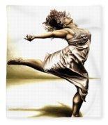 Rubinesque Dancer Fleece Blanket