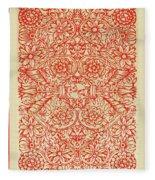Rubino Red Floral Fleece Blanket
