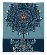 Rubino Zen Flower Fleece Blanket