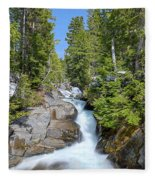 Ruby Falls On A Spring Afternoon Fleece Blanket