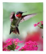 Ruby Garden Jewel Fleece Blanket