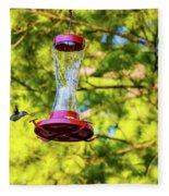 Ruby-throated Hummingbird 3 Fleece Blanket