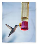 Ruby-throated Hummingbird 4 Fleece Blanket
