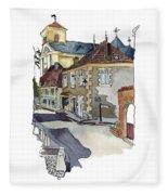 Rue Font St Jean, Ste Alvere, Dordogne Fleece Blanket