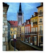 Rue Lamonnoye In Dijon France Fleece Blanket