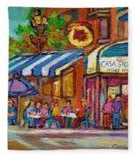 Rue Prince Arthur Casa Grecque Montreal Fleece Blanket