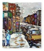 Achetez Les Petits Formats Scenes De Montreal St Viateur Bagel And Cola Truck Buy Montreal Painting  Fleece Blanket