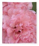 Ruffled Pink Rose Fleece Blanket