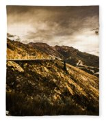 Rugged And Intense Mountain Background Fleece Blanket