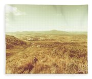 Rugged Bushland View Fleece Blanket
