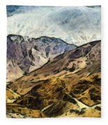 Rugged Mountains Of North India Fleece Blanket