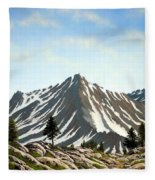 Rugged Peaks Fleece Blanket