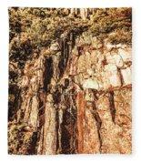 Rugged Vertical Cliff Face Fleece Blanket