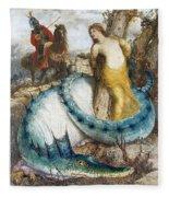 Ruggiero And Angelica Arnold Bcklin Fleece Blanket