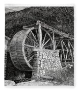Ruidoso Waterwheel Fleece Blanket