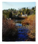Ruins In Autumn Fleece Blanket