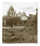 Ruins Of Carmel Mission Circa 1924 Fleece Blanket