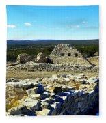 Ruins Of Gran Quivira  Fleece Blanket