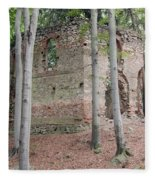 Ruins Of The Baroque Chapel Of St. Mary Magdalene Fleece Blanket