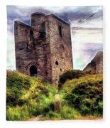 Ruins Of The Old Tin Mine Fleece Blanket