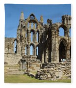 Ruins Of Whitby Abbey Fleece Blanket