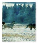 Run With The Wind Fleece Blanket