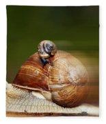 Runaway Snail Fleece Blanket