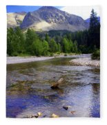 Running Eagle Creek Glacier National Park Fleece Blanket